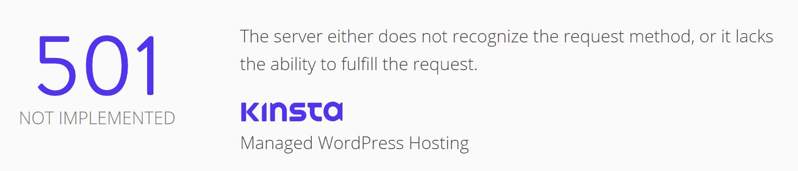error 501 not implemented