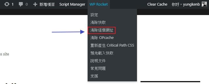 clear cache wordpress