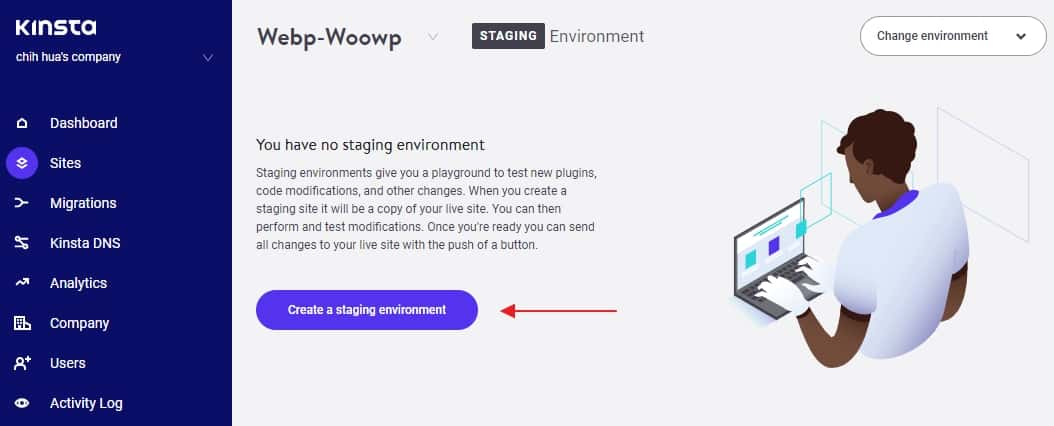 創建 WordPress 暫時環境