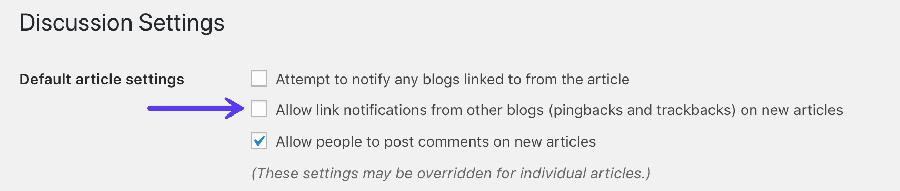 Disable pingback in WordPress